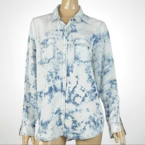 Mossimo - Long Sleeve, Tie Dyed, Shirt - Size XL